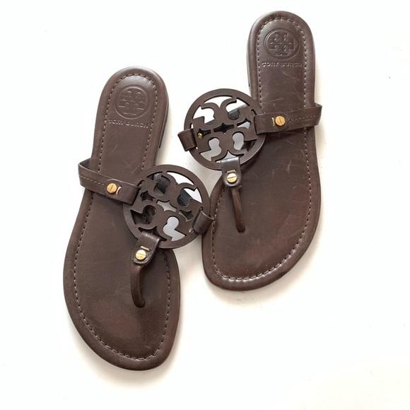 6bb06be87 Tory Burch Miller Brown Thong Sandals. M 5c894cafa31c3377bdc9f68d